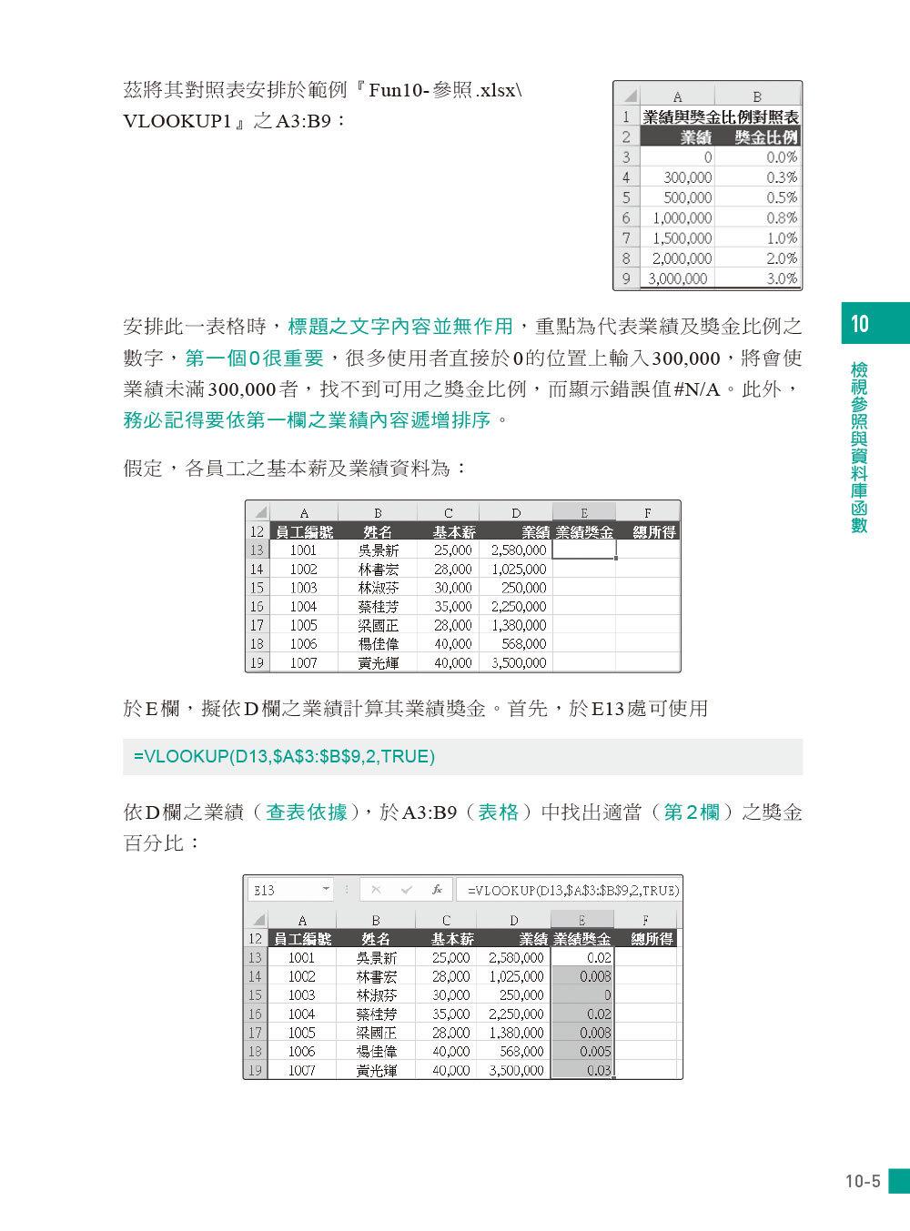 Excel 函數與分析工具 -- 應用解析x實務範例x統計分析 (適用Excel 2019~2013)-preview-5