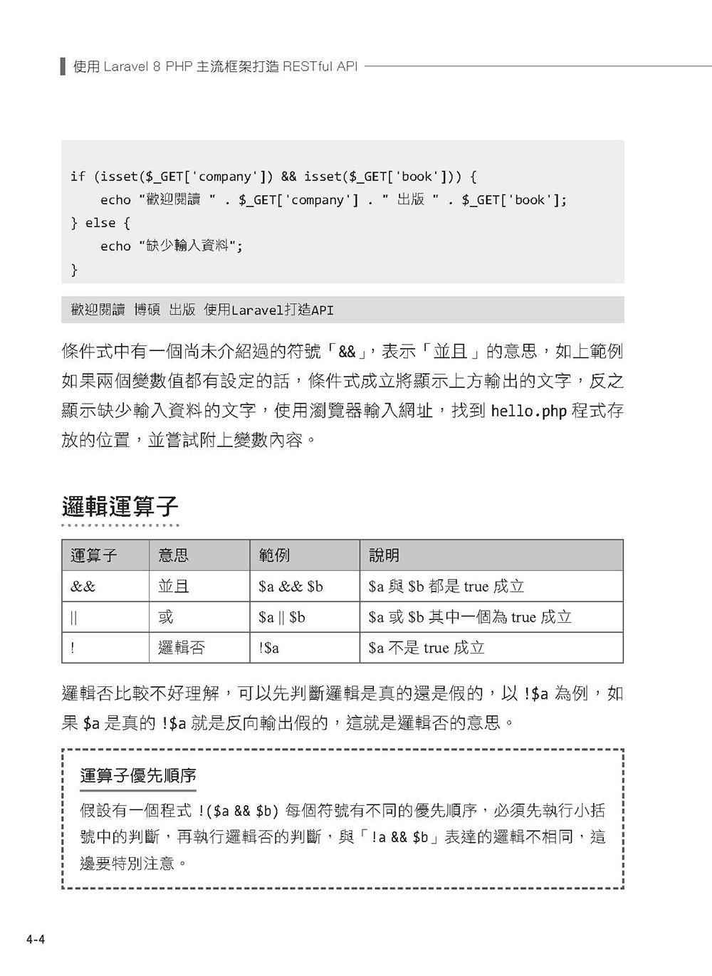 使用 Laravel 8 PHP 主流框架打造 RESTful API (iT邦幫忙鐵人賽系列書)-preview-9