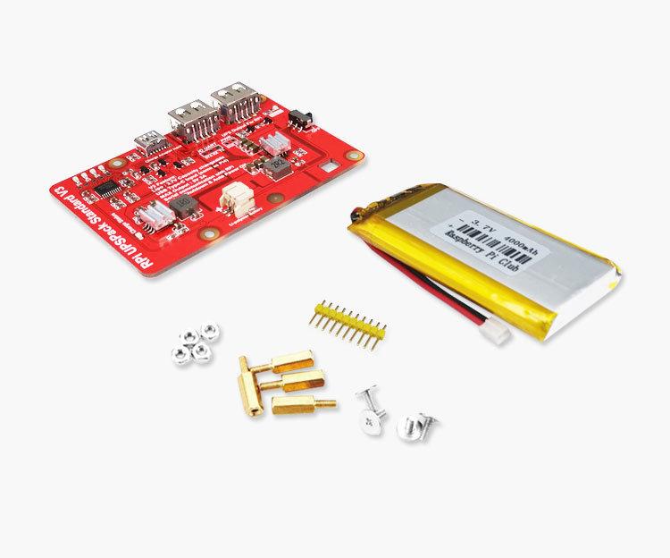 樹莓派 UPS 鋰電池擴充板 | USB 雙輸出電源供應模組 (V3)-preview-1