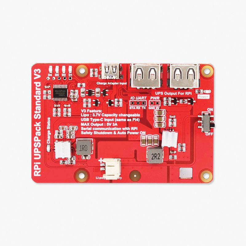 樹莓派 UPS 鋰電池擴充板 | USB 雙輸出電源供應模組 (V3)-preview-2