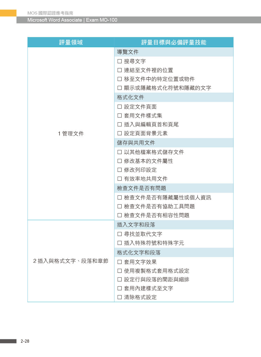 MOS 國際認證應考指南 -- Microsoft Word Associate|Exam MO-100-preview-3