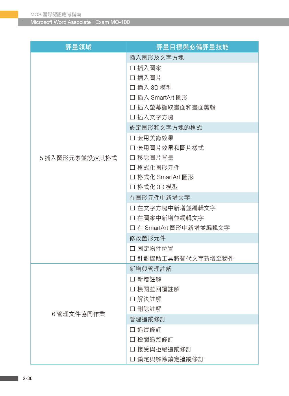 MOS 國際認證應考指南 -- Microsoft Word Associate|Exam MO-100-preview-5