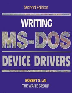 Writing MS-Dos Device Drivers (Paperback)