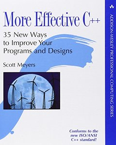 More Effective C++: 35 New Ways to Improve Your Programs and Designs (Paperback)-cover