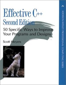 Effective C++: 50 Specific Ways to Improve Your Programs and Design, 2/e-cover