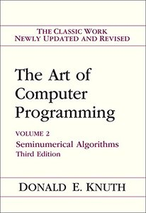 The Art of Computer Programming, Volume2 : Seminumerical Algorithms, 3/e (Hardcover)-cover
