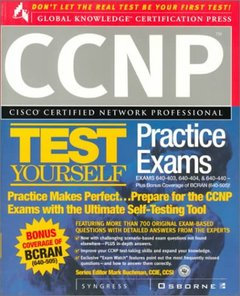 CCNP Cisco Certified Network Professional Test Yourself Practice Exams-cover