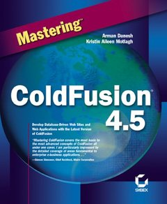 Mastering ColdFusion 4.5-cover