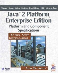 Java 2 Platform, Enterprise Edition: Platform and Component Specifications-cover