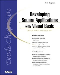 Developing Secure Applications with Visual Basic-cover