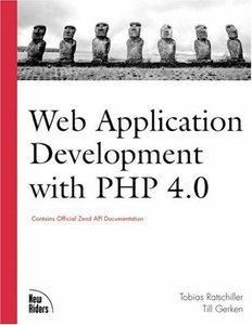 Web Application Development with PHP 4.0 (Paperback)-cover