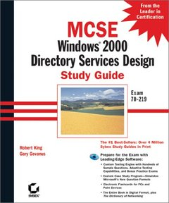 MCSE: Windows 2000 Directory Services Design Study Guide-cover