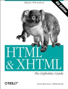 HTML & XHTML: The Definitive Guide, 4/e (Paperback)-cover
