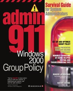Admin911: Windows 2000 Group Policies-cover