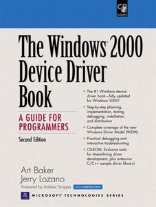 The Windows 2000 Device Driver Book: A Guide for Programmers, 2/e (Paperback)-cover