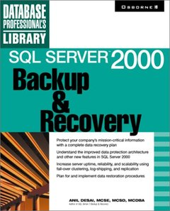 SQL Server 2000 Backup & Recovery-cover