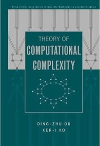 Theory of Computational Complexity-cover