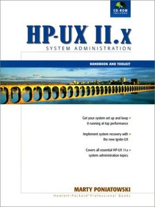 The HP-UX 11.x System Administration Handbook and Toolkit, 2/e-cover