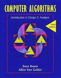 Computer Algorithms: Introduction to Design & Analysid, 3/e-cover