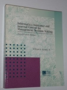 Information Quality Assurance and Internal Control for Management Decision Marking (Paperback)