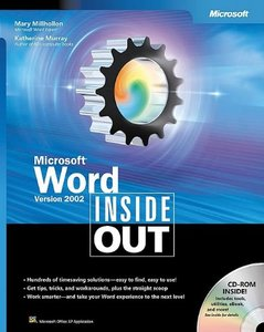 Microsoft Word Version 2002 Inside Out-cover