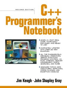 C++ Programmer's Notebook, 2/e-cover