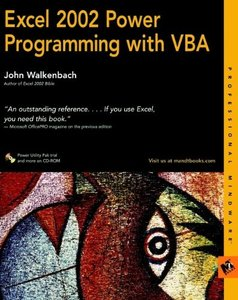 Excel 2002 Power Programming with VBA-cover