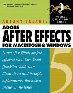 After Effects 5 for Macintosh and Windows: Visual QuickPro Guide (Paperback)-cover