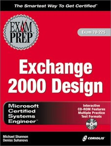 MCSE Exchange 2000 Design Exam Prep: Exam: 70-225-cover