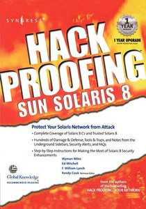 Hack Proofing Sun Solaris 8-cover