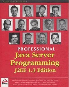 Professional Java Server Programming J2EE, 1.3 Edition (Paperback)-cover