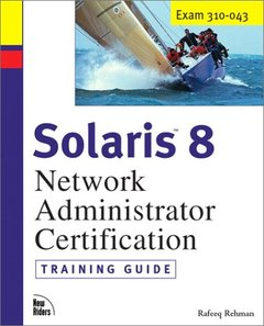 Solaris 8 Network Administrator Training Guide (Hardcover)-cover