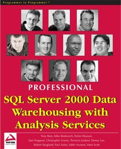 Professional SQL Server 2000 Data Warehousing with Analysis Services-cover