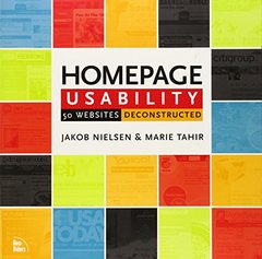 Homepage Usability: 50 Web Sites Deconstructed-cover