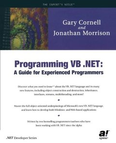 Programming VB .NET: A Guide for Experienced Programmers-cover