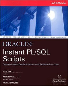 Instant Oracle9i PL/SQL Scripts (Paperback)-cover
