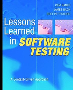 Lessons Learned in Software Testing (Paperback)-cover