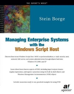 Managing Enterprise Systems with the Windows Script Host-cover