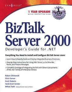 BizTalk Server 2000 Developer's Guide for .NET-cover