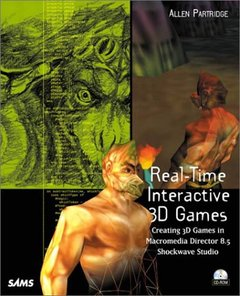 Real-Time Interactive 3D Games: Creating 3D Games in Macromedia Director 8.5 (Paperback)-cover
