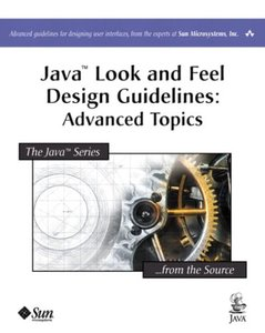 Java Look and Feel Design Guidelines: Advanced Topics (Paperback)-cover
