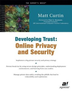 Developing Trust: Online Privacy and Security-cover
