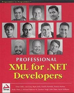 Professional XML for .NET Developers-cover