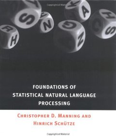 Foundations of Statistical Natural Language Processing (Hardcover)-cover