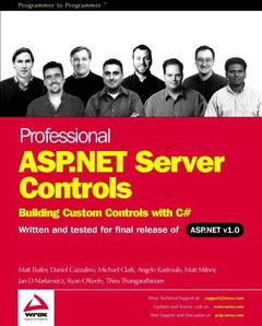 Professional ASP.NET Server Controls: Building Custom Controls with C#-cover