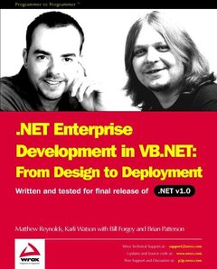 .NET Enterprise Development in VB.NET: From Design to Deployment (Paperback)-cover