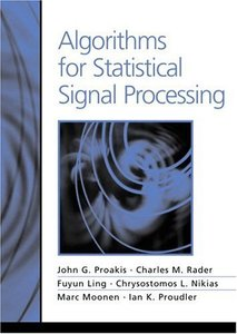 Algorithms for Statistical Signal Processing (Hardcover)-cover