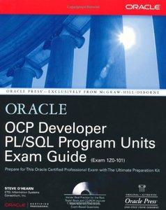 OCP Developer PL/SQL Program Units Exam Guide (Hardcover)-cover