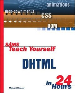 Sams Teach Yourself DHTML in 24 Hours-cover
