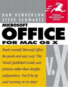 Microsoft Office v.X for Mac OS X: Visual QuickStart Guide-cover
